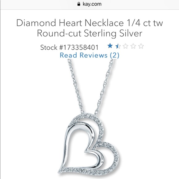 Kay Jewelers Jewelry Double Heart Diamond Necklace 14 Ct Poshmark